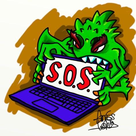 Virus atacando Portátil firmado