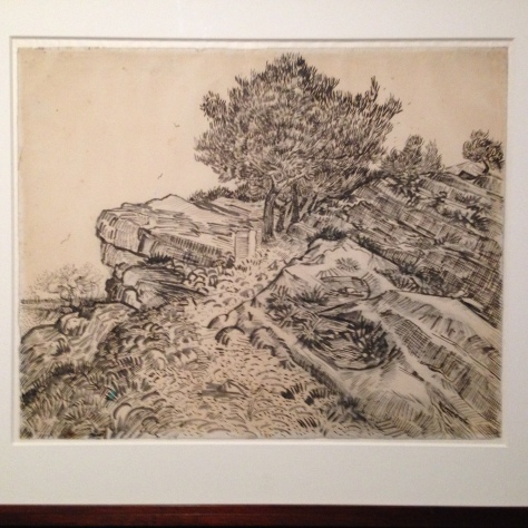 Van Gogh, dibujo a tinta