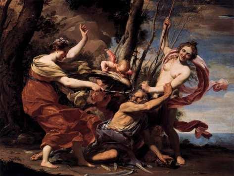 'El tiempo vencido por el amor, la belleza y la esperanza '. S. Vouet. 1627..jpg